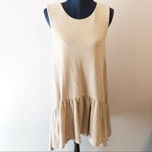 Free People Turn it On knit trapeze dress size sm